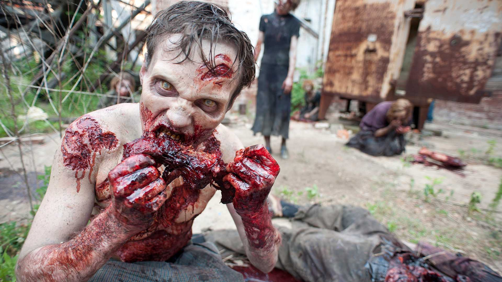 Image result for The Walking Dead blood scene