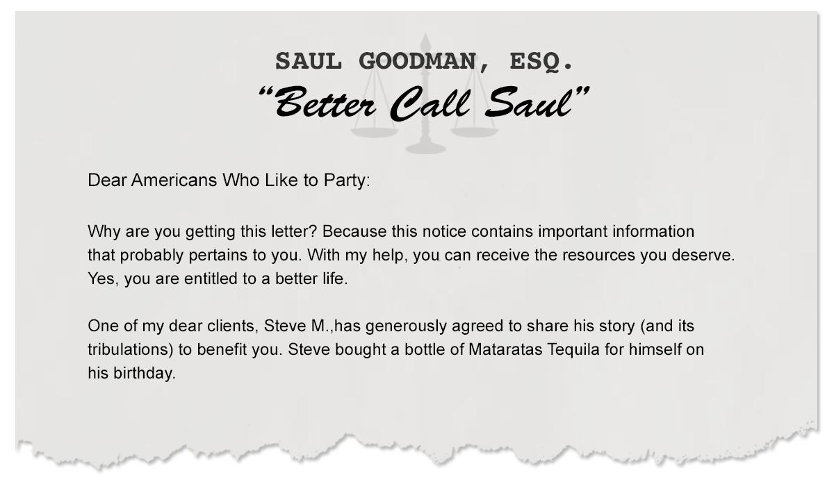Letters From Saul – A Guide to Partying Responsibly