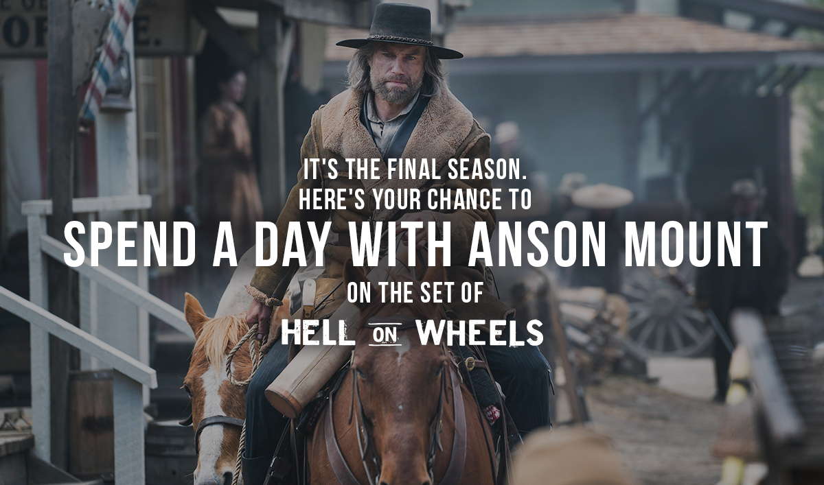Enter for Your Chance to Spend a Day with Anson Mount on the Set of <em>Hell on Wheels</em>