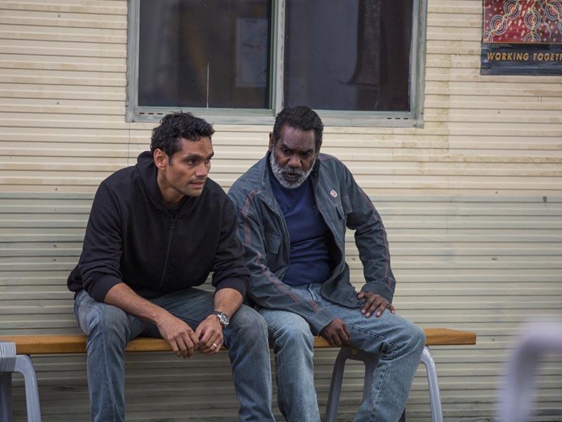 Djukara (Tyson Towney); Group- Cleverman _ Season 1, Episode 1 - Photo Credit: Lisa Tomasetti/SundanceTV