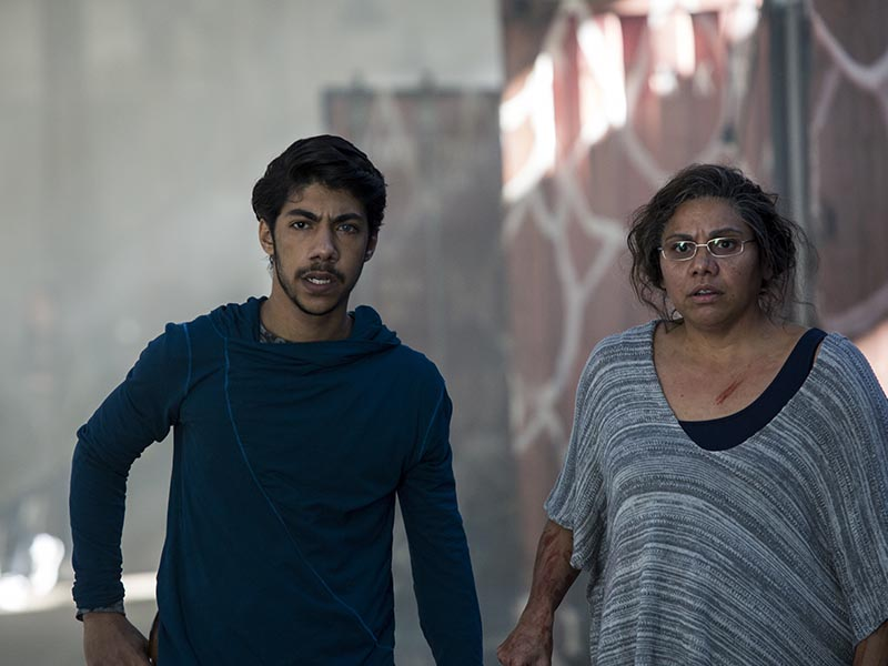Djukara (Tyson Towney); Group- Cleverman _ Season 1, Episode 1 - Photo Credit: Lisa Tomasetti/SundanceTV
