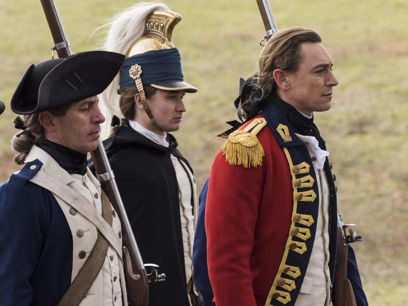 JJ Feild as Major John Andre, Seth Numrich as Ben Tallmadge- TURN: Washington's Spies _ Season 3, Episode 10 - Photo Credit: Antony Platt/AMC