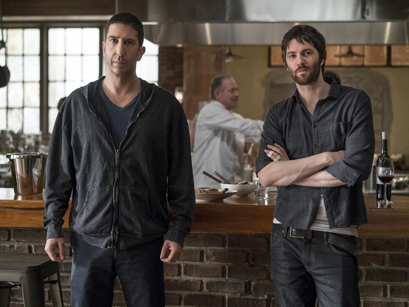 Jim Sturgess as Dion Patras, David Schwimmer as Tommy Moran - Feed The Beast _ Season 1, Episode 3 - Photo Credit: Ali Paige Goldstein/Lionsgate Television/AMC