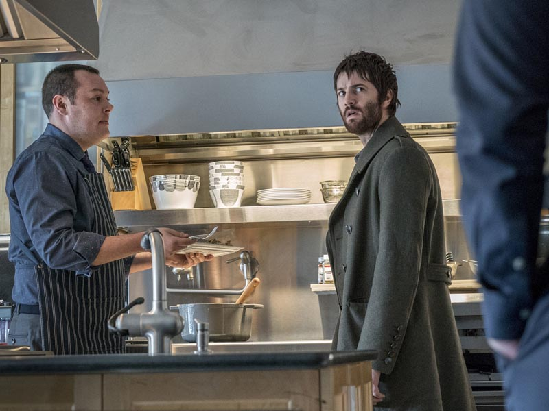 Jim Sturgess as Dion Patras, Michael Gladisas Patrick Woichik- Feed The Beast _ Season 1, Episode 5 - Photo Credit: David Russell/AMC