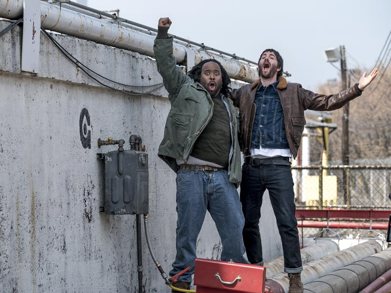 Jim Sturgess as Dion Patras, Jacob Ming-Trent as Mose - Feed The Beast _ Season 1, Episode 6 - Photo Credit: Ali Paige Goldstein/AMC