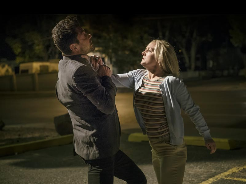 Dominic Cooper as Jesse Custer, Juliana Potter as Susan - Preacher _ Season 1, Episode 5 - Photo Credit: Lewis Jacobs/Sony Pictures Television/AMC