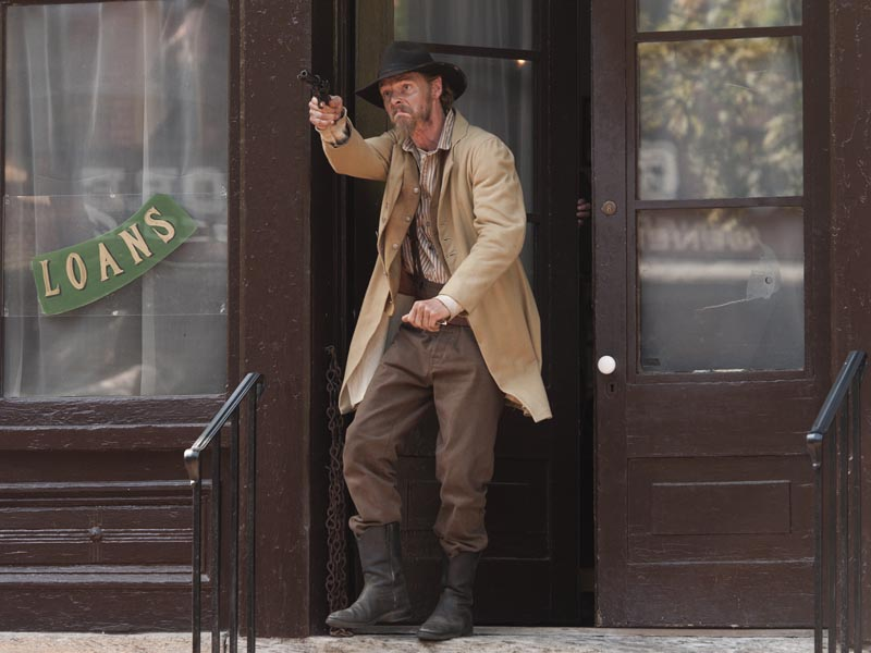 David H. Stevens as Jesse James - The American West _ Season 1, Episode 4 - Photo Credit: Lawrence French/Getty Images For AMC