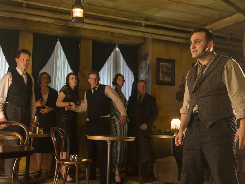 Michael Kotsohilis as Al Capone - Making of the Mob: Chicago _ Season 2, Episode 1 -- Photo Credit: Richard Brimer/AMC