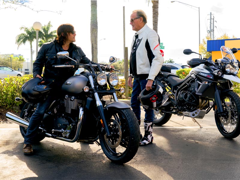 Norman Reedus riding with Peter Fonda, Florida, January 19-21, 2016 - The Ride with Norman Reedus _ Season 1, Episode 6 - Photo Credit: Mark Schafer/AMC