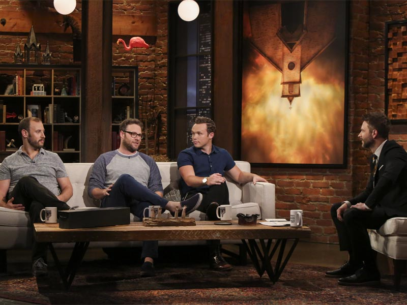 Evan Goldberg, Seth Rogen, Ian Coletti, Chris Hardwick - Talking Preacher _ Season 1, Episode 9 - Photo Credit: Jordin Althaus/AMC