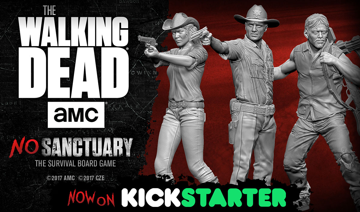 Cryptozoic Entertainment's <em>The Walking Dead</em>: No Sanctuary Board Game Comes to Life on Kickstarter