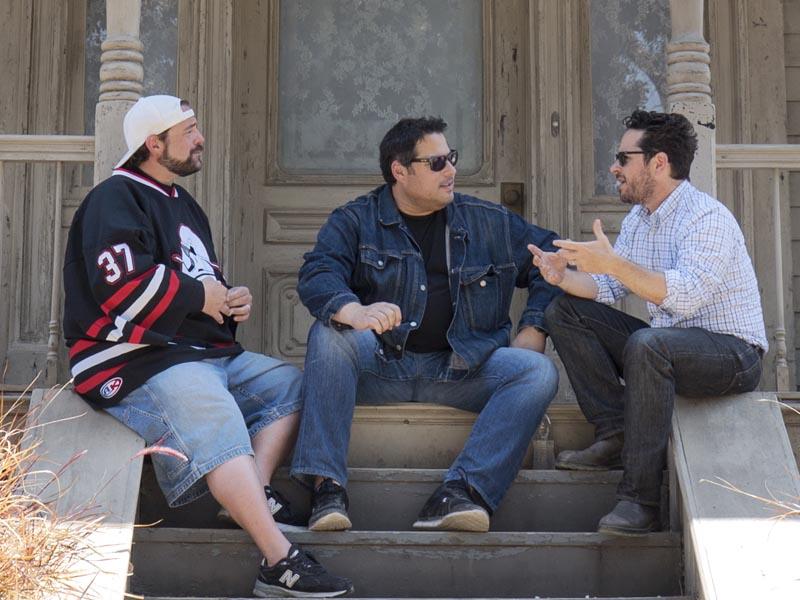 Kevin Smith, J.J. Abrams, Greg Grunberg - Geeking Out _ Season 1, Episode 1 - Photo Credit: Michael Moriatis/AMC