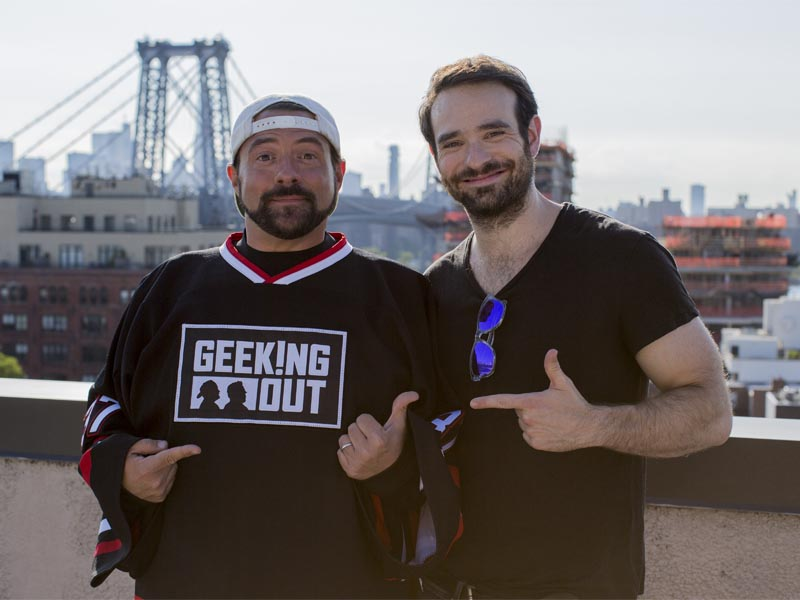 Kevin Smith, Charlie Cox - Geeking Out _ Season 1, Episode 3 - Photo Credit: Jerry Carita/AMC