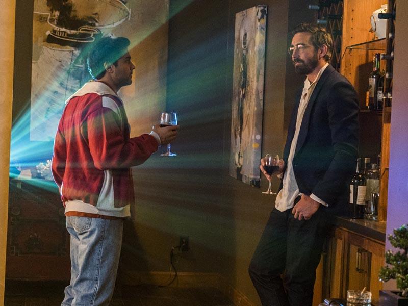 Lee Pace as Joe MacMillan, Manish Dayal as Ryan Ray- Halt and Catch Fire _ Season 3, Episode 3 - Photo Credit: Tina Rowden/AMC