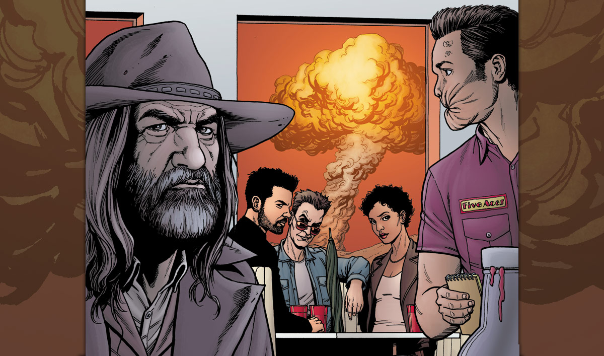 Steve Dillon Puts a New Spin on an Original <em>Preacher</em> Comic Panel