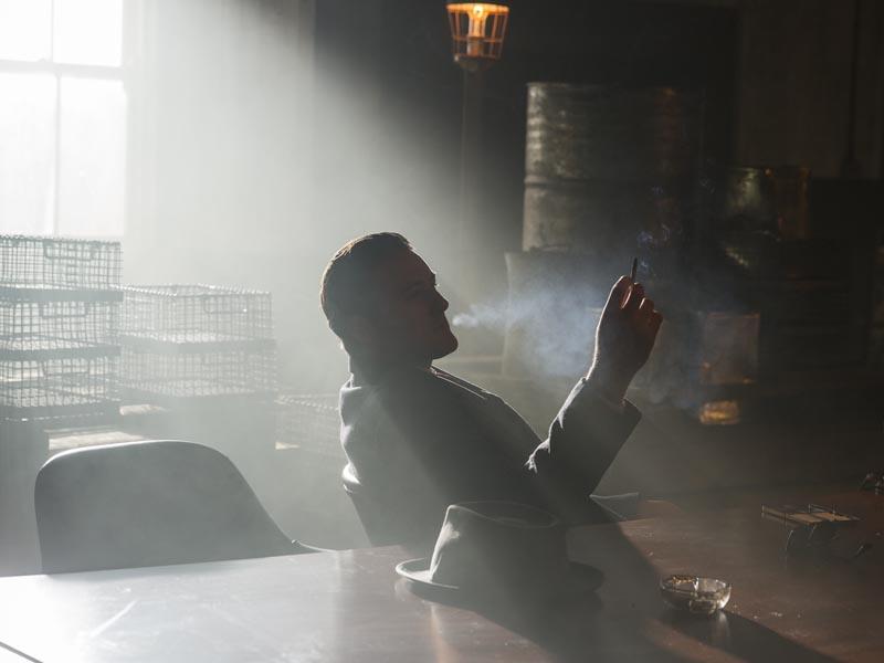 Emmett Skilton as Sam Giancana - Making of the Mob: Chicago _ Season 2, Episode 8 -- Photo Credit: Richard Brimer/AMC