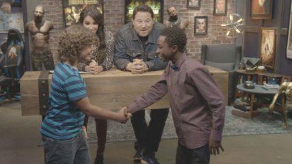 Geeking Out Bonus Scene: Stranger Things Handshake
