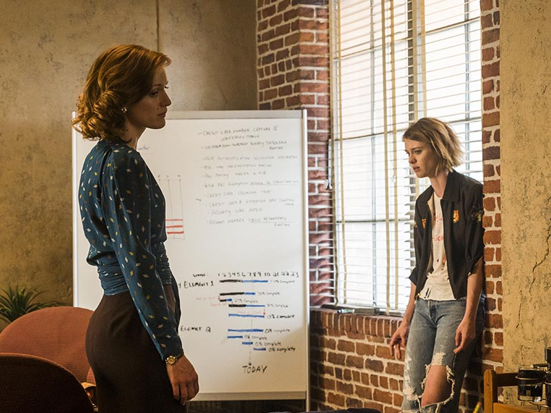 Mackenzie Davis as Cameron Howe, Kerry Bishe as Donna Clark - Halt and Catch Fire _ Season 3, Episode 5  - Photo Credit: Tina Rowden/AMC
