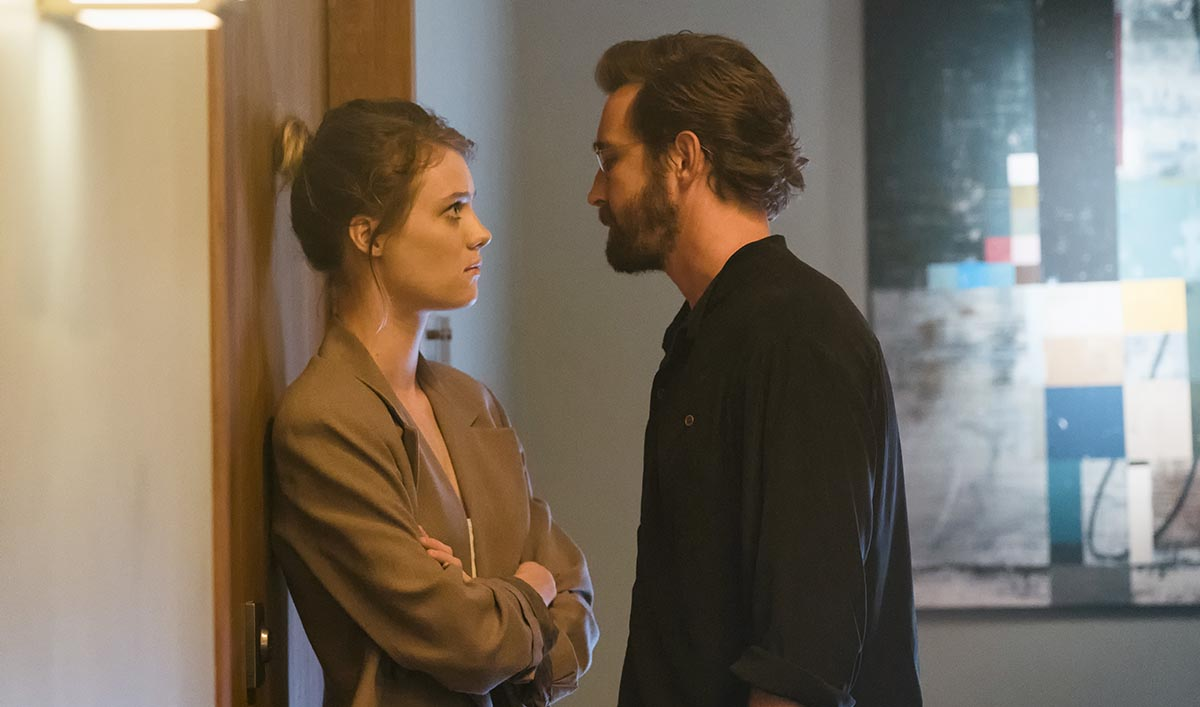 Mackenzie Davis as Cameron Howe, Lee Pace as Joe MacMillan - Halt and Catch Fire _ Season 3, Episode 6  - Photo Credit: Tina Rowden/AMC