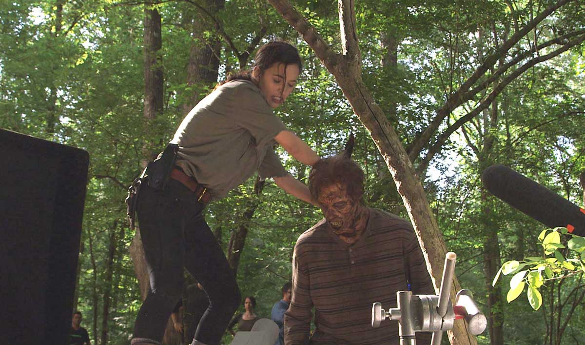 "Making of ""Service"" — See How Rosita Got Creative to Take Out a Walker in the Woods"
