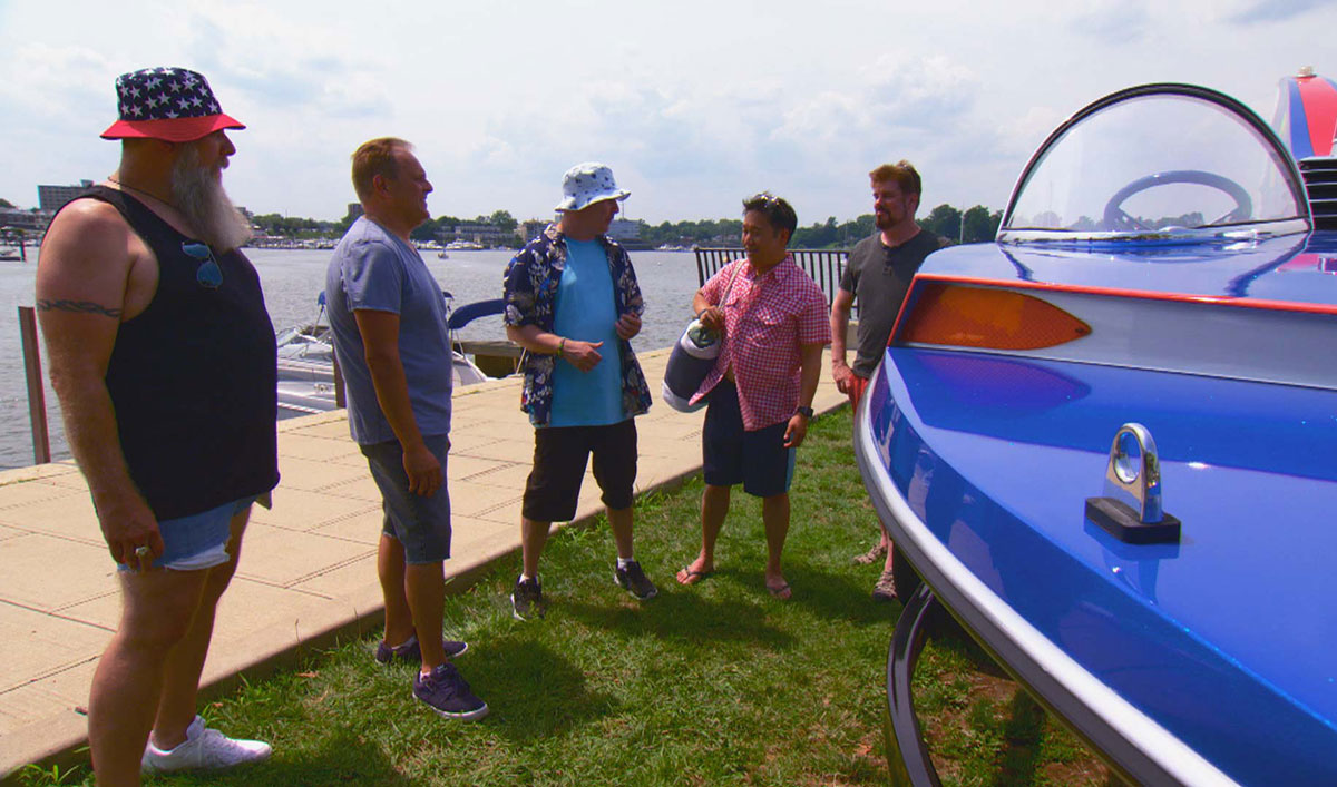Watch the Guys Prepare for an Adventure at Sea… Sort of