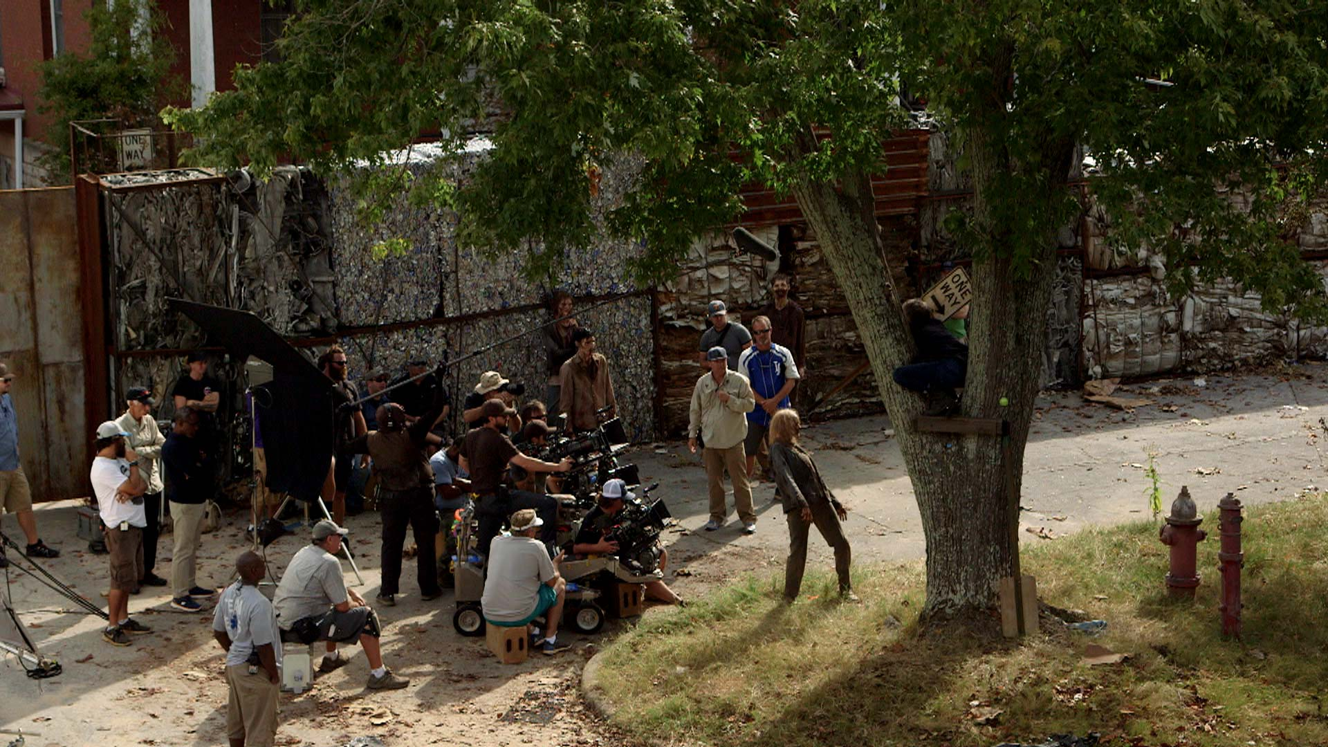 video extra the walking dead spoilers making of the