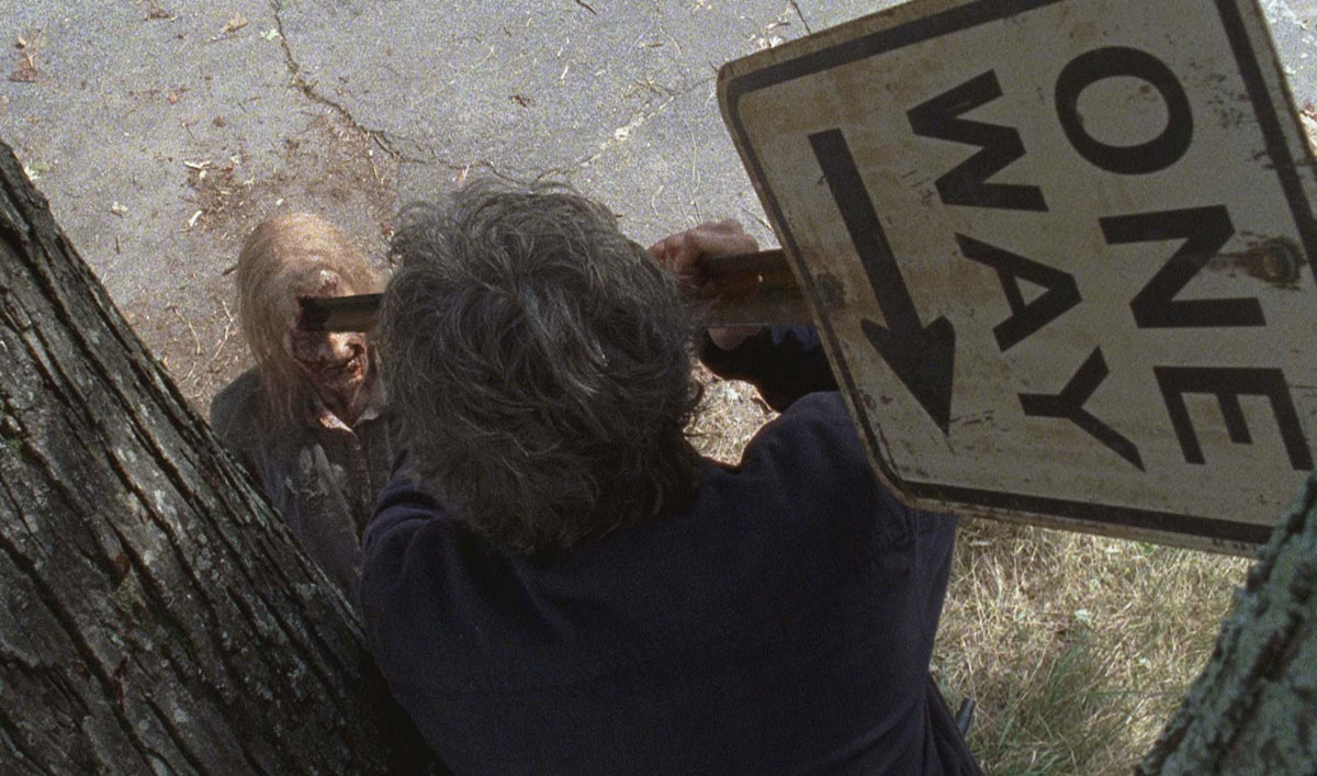 How the Crew Turned a Street Sign Into a Walker-Killing Spear in <em>The Walking Dead</em> Season 7, Episode 13