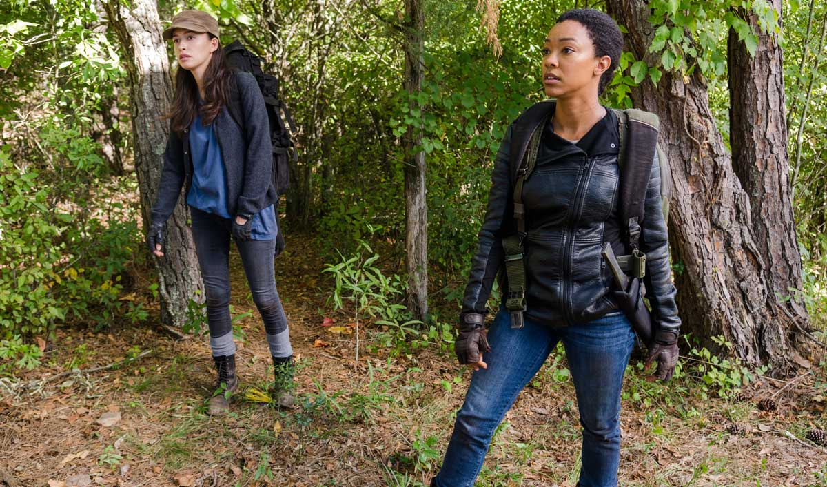 Sasha and Rosita Make It to the Sanctuary in a Talked About Scene From <em>The Walking Dead</em> Season 7, Episode 14