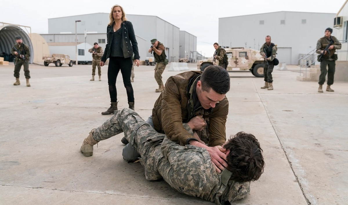Madison Faces Off Against Troy in a Talked About Scene From the <em>Fear the Walking Dead</em> Season 3 Premiere
