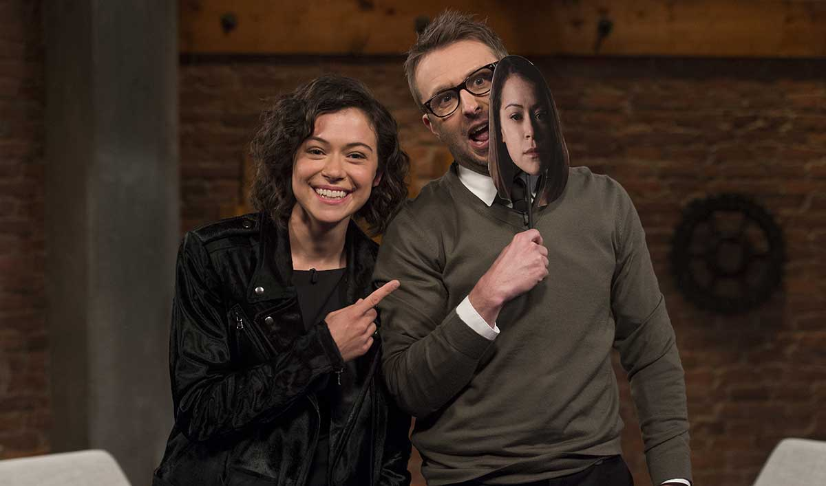 Tatiana Maslany Talks Clones on the Latest Episode of <em>Talking with Chris Hardwick</em>