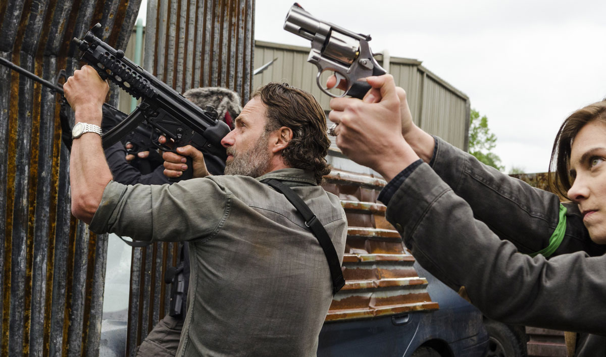 Cast and Crew on Rick's Intricate Attack Against the Saviors in <em>The Walking Dead</em> Season 8 Premiere