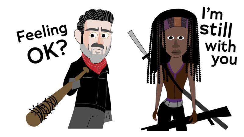Download <em>The Walking Dead</em> Sticker Pack App for iOS