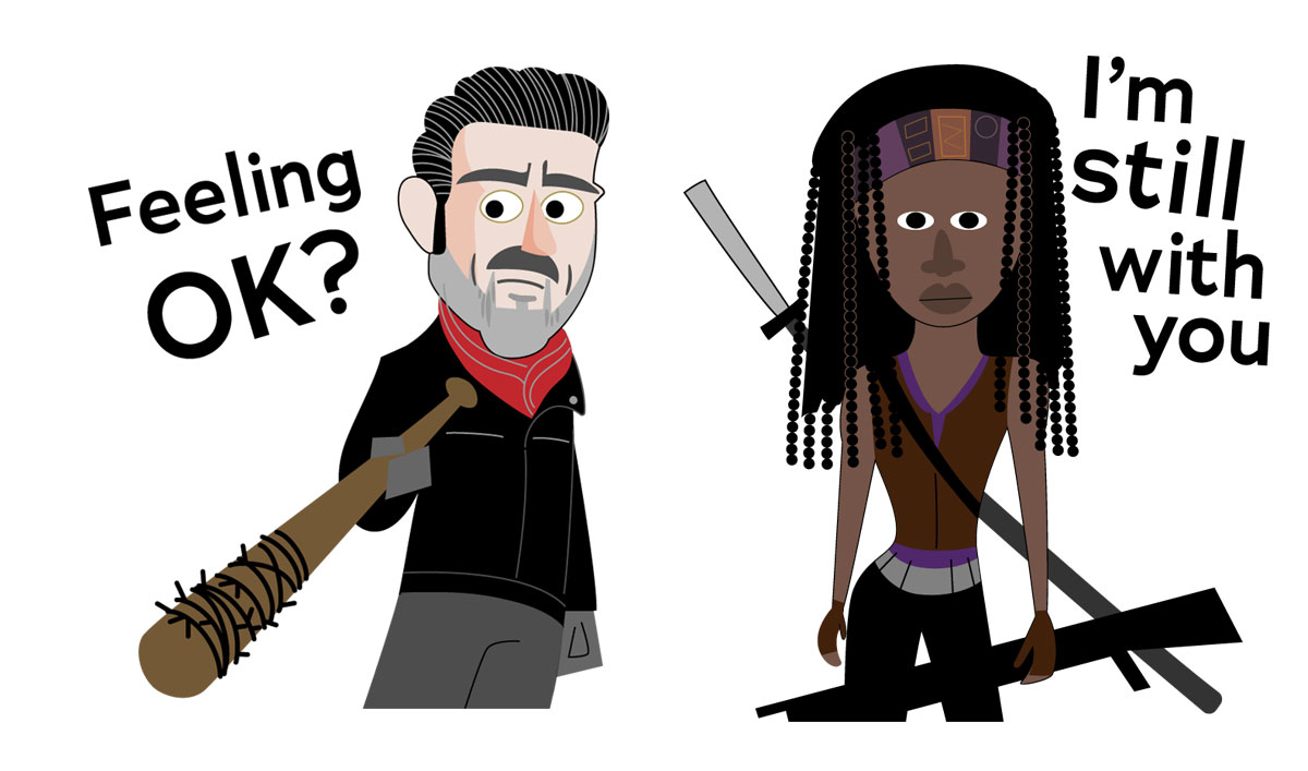 Download <em>The Walking Dead</em> Sticker Pack App for iOS