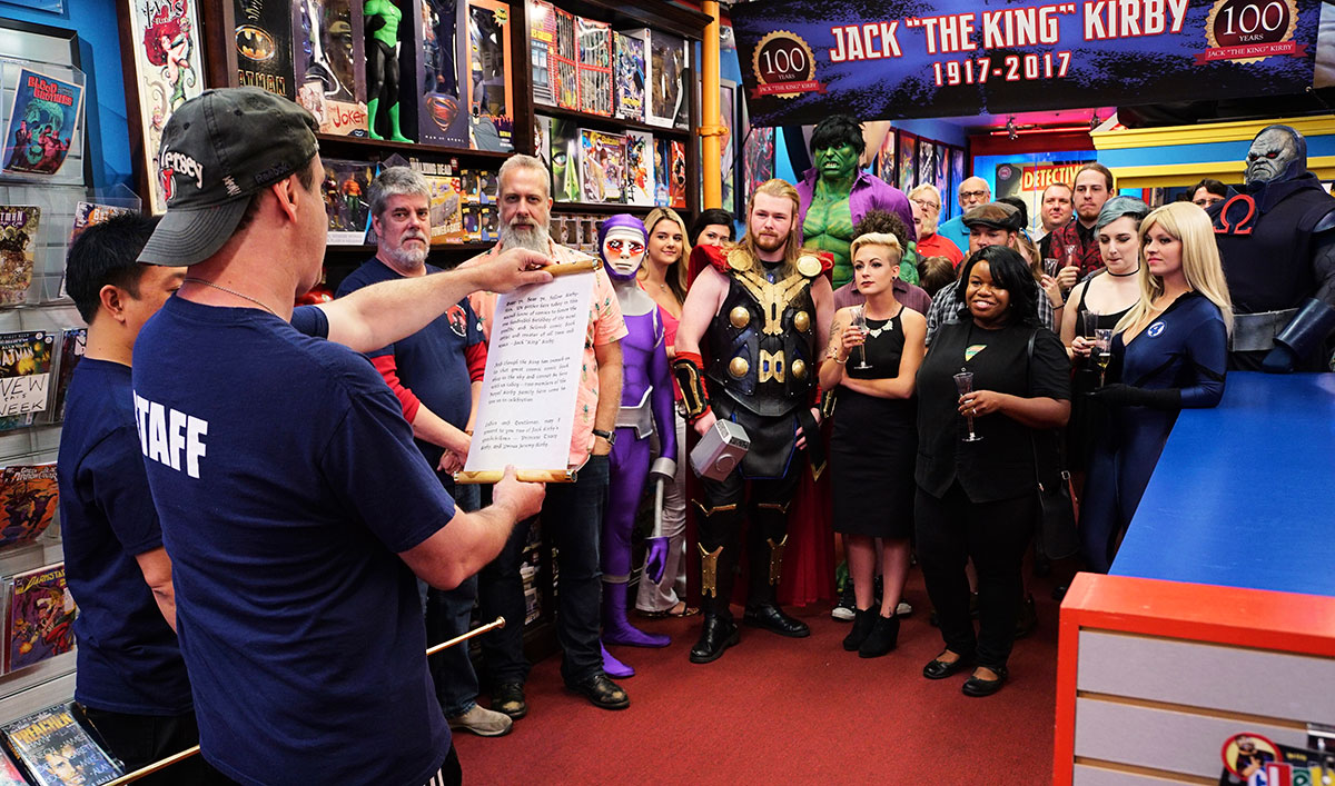 The Stash Throws 100th Birthday Bash for Comic Book Royalty