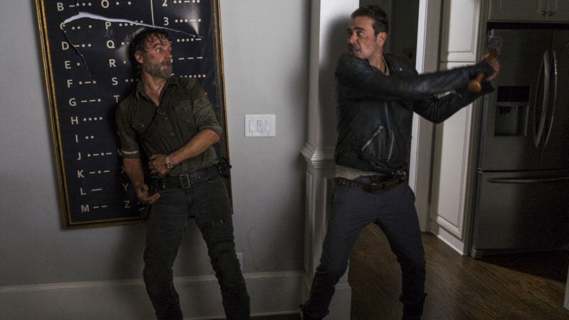 Negan and Rick Go Head to Head in <em>The Walking Dead</em> Mid-Season Finale