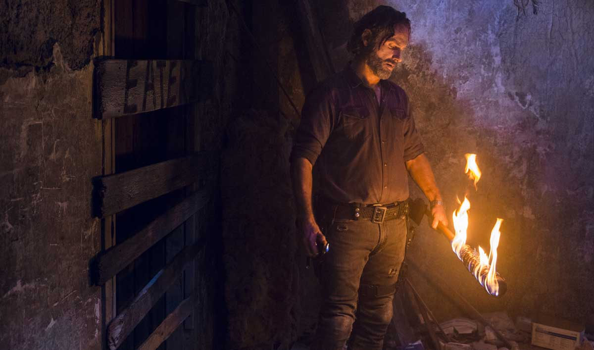 Go Behind the Scenes of the Negan-Rick Showdown in <em>The Walking Dead</em> Episode 12