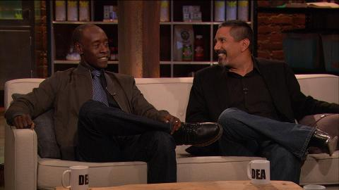Guests Don Cheadle and Steven Michael Quezada discuss Breaking Bad Episode 513, To'hajiilee with host Chris Hardwick.