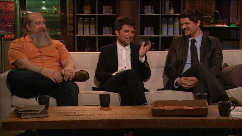 Guests Brian Johnson, Adam Scott, and Matt Jones discuss Breaking Bad Episode 515, Granite State with host Chris Hardwick.