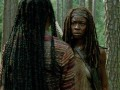 Michonne dispatches walkers in this talked about scene from the mid-season premiere.
