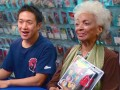 Nichelle Nichols, the actress who originated the character of Lt. Uhura in Star Trek, visits the stash in search of a Mego Uhura action figure.