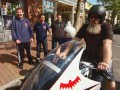 The Comic Book Men get an opportunity to take a ride in a visitor's Batcycle.