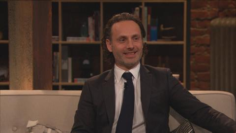 Andrew Lincoln talks about how the throat stunt from Episode 416 was created.