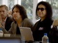 Paul Stanley and Gene Simmons introduce themselves to the heads of the Arena Football League.