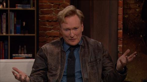 Conan O'Brien shares his predictions for what will happen on Season 5 of The Walking Dead.