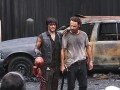 The cast and crew of The Walking Dead describe how the grisly scene with the napalmed zombies was created.