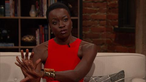 Danai Gurira discusses Michonne's feelings about going to Alexandria.