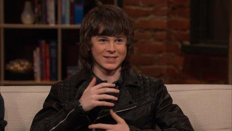 Chandler Riggs discusses what it's like working with the child actors that play baby Judith.