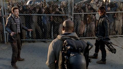 A town meeting to determine Rick's future in Alexandria goes awry, while Daryl and Aaron unexpectedly meet an old friend of Rick's.
