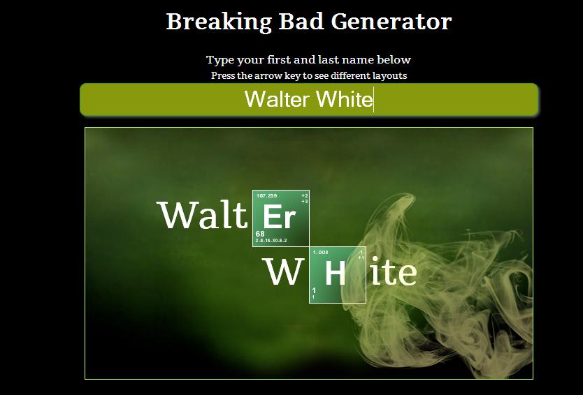 curiosidades acerca de breaking bad - Tabla Periodica Breaking Bad