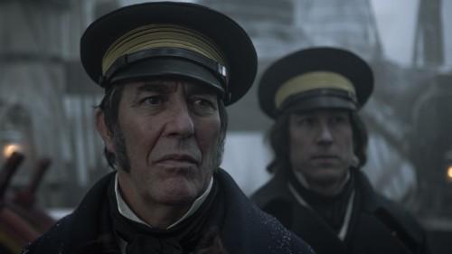 John Franklin (Ciaran Hinds) and James Fitzjames (Tobias Menzies) Photo by Aidan Monaghan/AMC